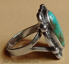 Navajo Native indian tribal sterling silver ring, unsigned old pawn indian jewelry