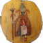Bijou tribal am�rindien ancien, pendentif en Os repr�sentant un kachina dancer Hopi