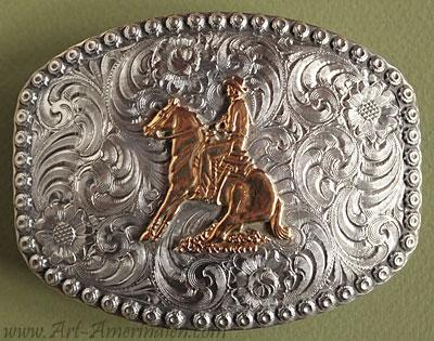 Boucles de ceinture américaines Western, argent, fabrication USA 6f858199e66