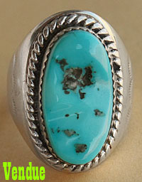 bague homme turquoise navajo