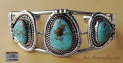 bracelet argent amerindien